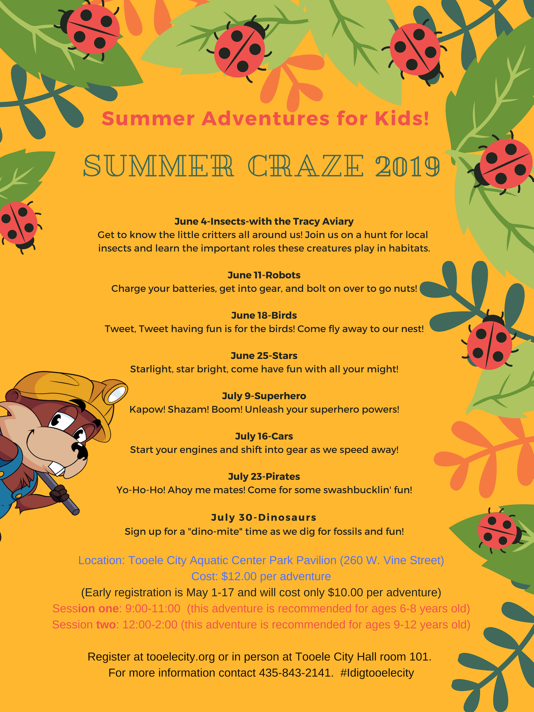 CRAZE: Summer Adventures for Kids! @ Aquatic Center Park | Tooele | Utah | United States