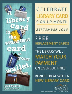 Library Card Sign Up Month @ Tooele City Library | Tooele | Utah | United States
