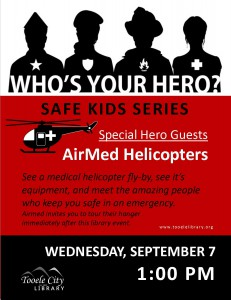 Who's Your Hero?: AirMed Medical Helicopters @ Tooele City Library | Tooele | Utah | United States