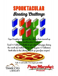Spooktacular Reading Challenge @ Tooele City Library | Tooele | Utah | United States