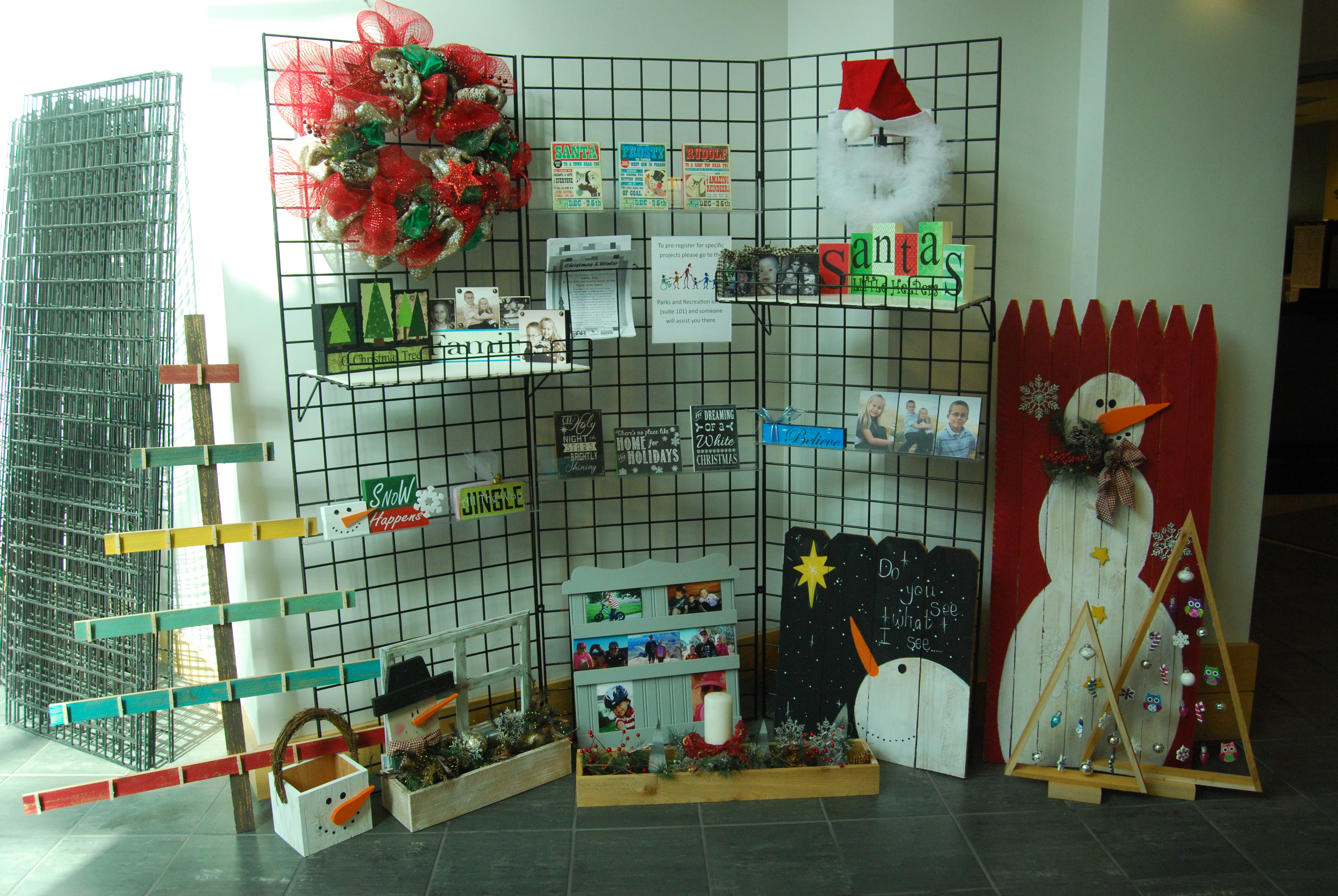 Christmas and Winter Craft Workshop Display