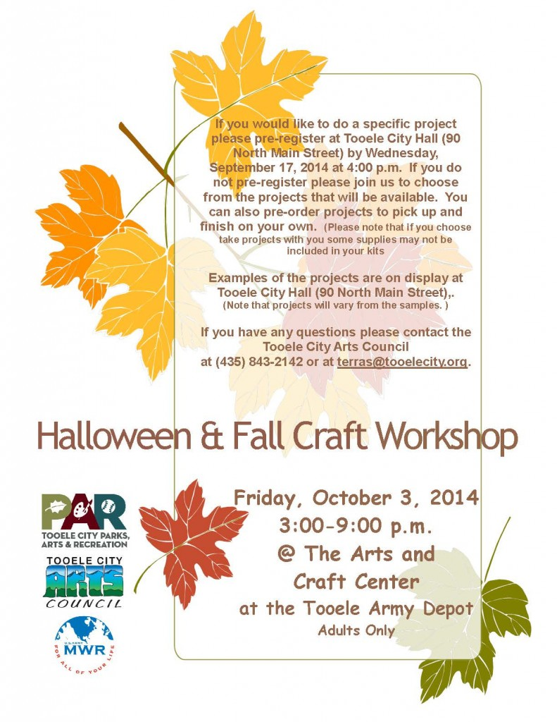 Fall and Halloween Workshop 2014