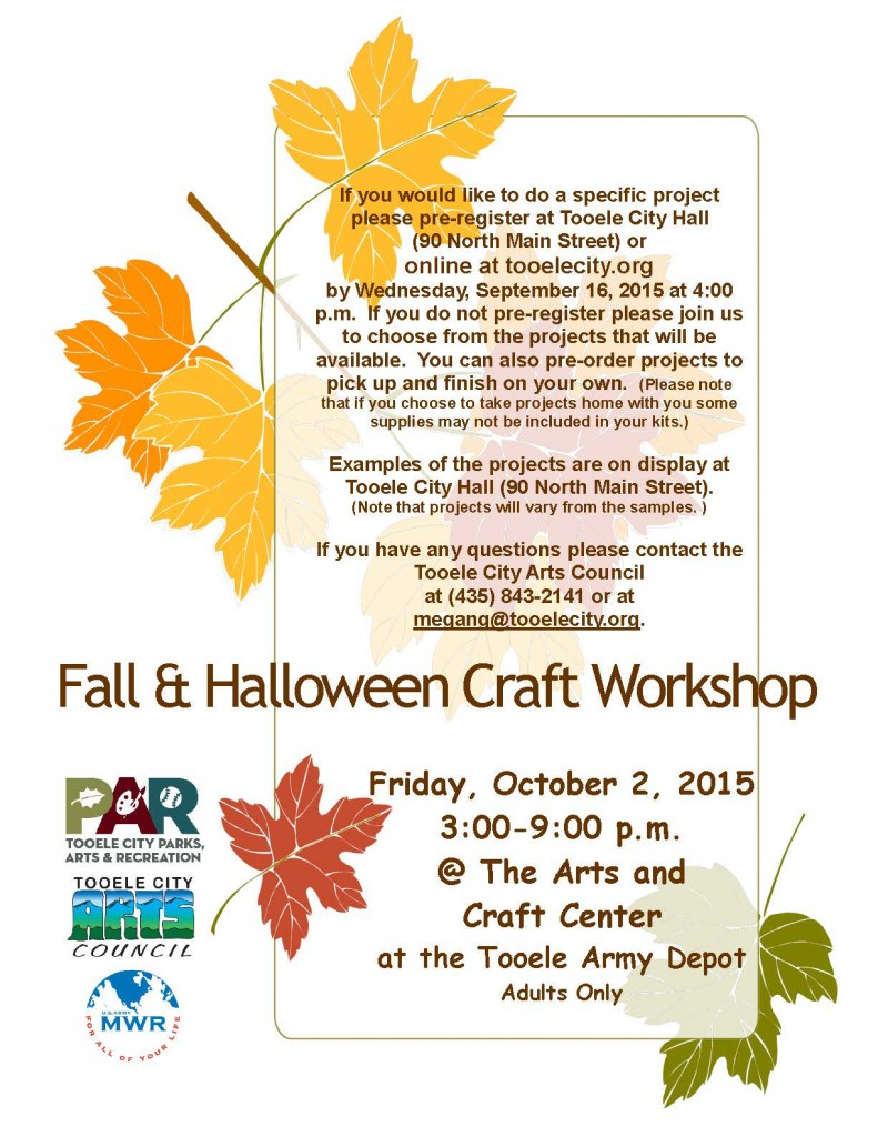 Fall and Halloween Workshop 2015