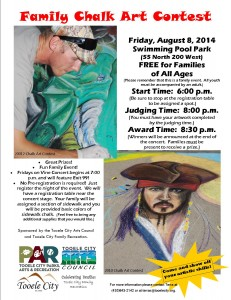 Family Chalk Art Contest August 2014