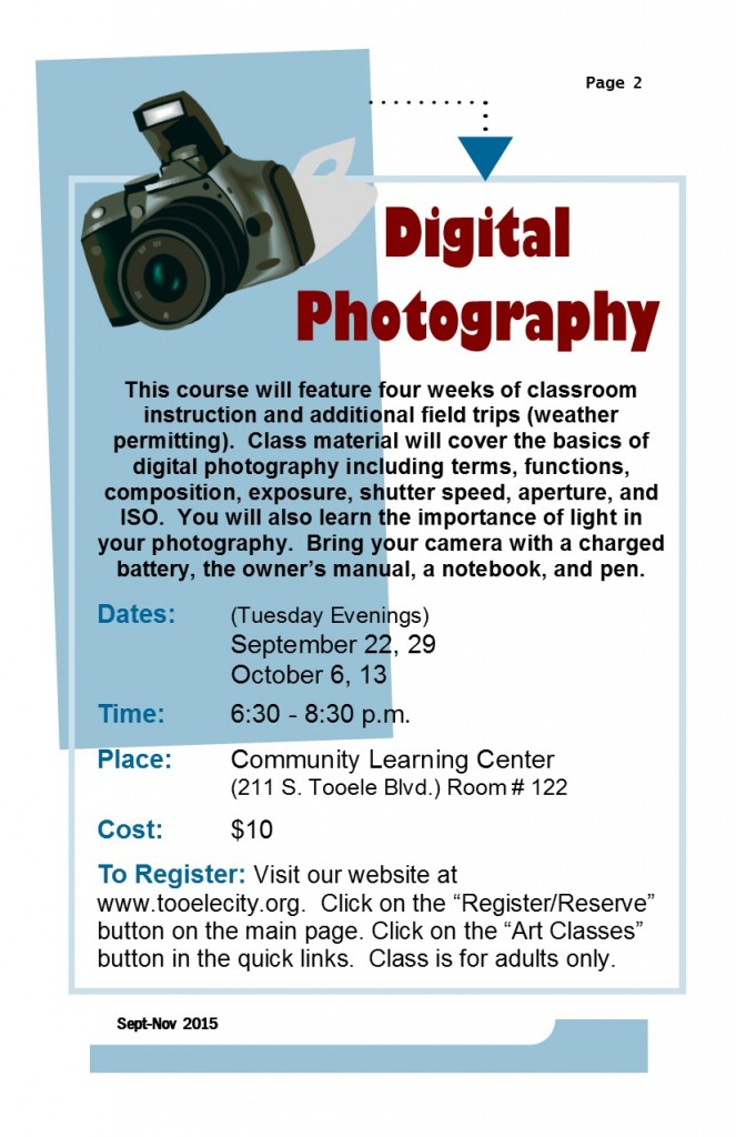 Digital Photography Fall 2015