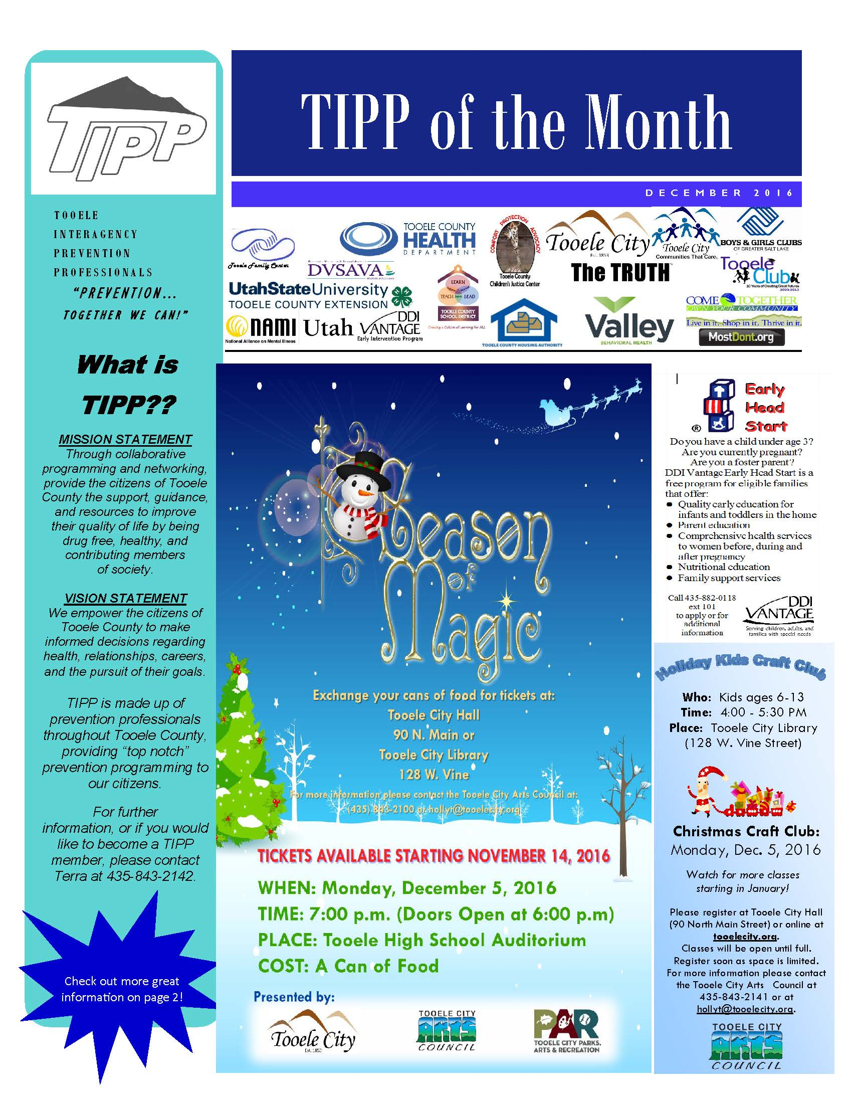 Tipp Newsletter December 2016