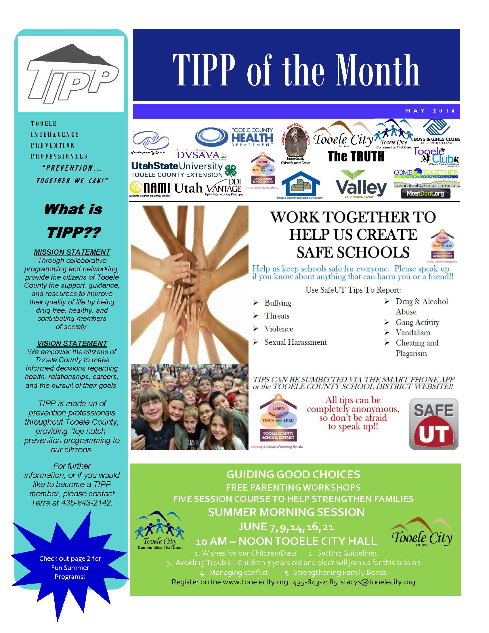 TIPP Newsletter May 2016