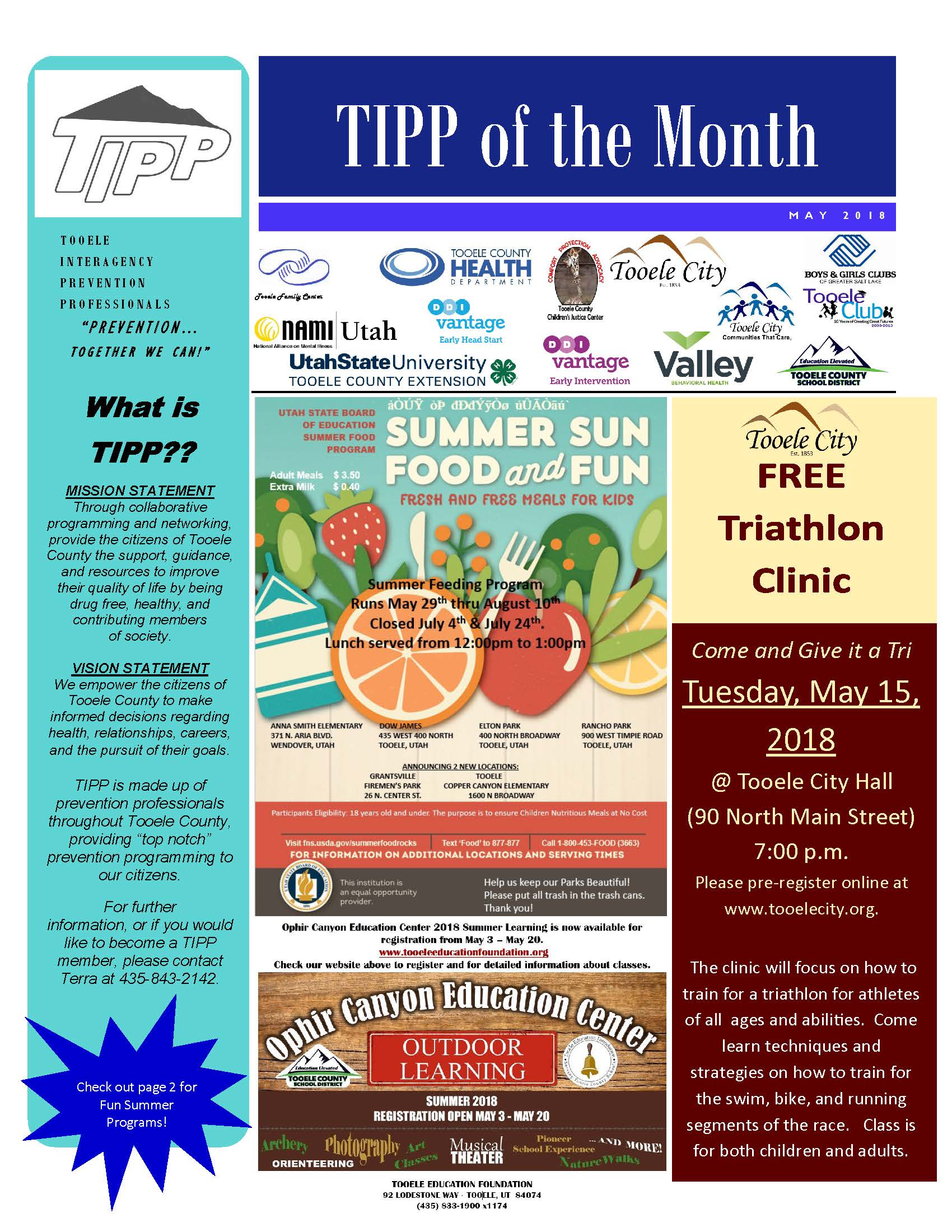 TIPP Newsletter May 2018
