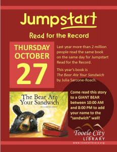 Library: The Bear Ate Your Sandwich @ Tooele City Library | Tooele | Utah | United States