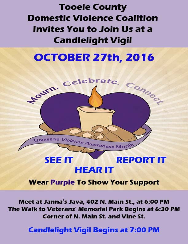 Domestic Violence Awareness Candlelight Vigil 2016 @ Veterans Memorial Park | Tooele | Utah | United States