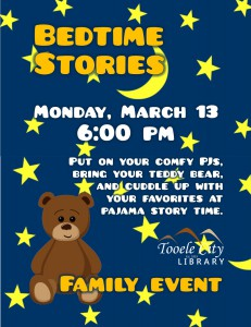 Family Event: Bedtime Stories @ Tooele City Library | Tooele | Utah | United States