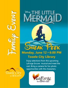Family Event: The Little Mermaid Musical Sneak Peek @ Tooele City Library | Tooele | Utah | United States