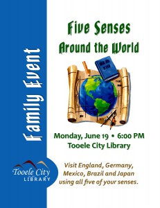 Family Event: 5 Senses Around the World @ Tooele City Library | Tooele | Utah | United States