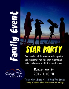Family Event: Star Party @ Tooele City Library | Tooele | Utah | United States