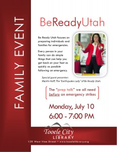 Family Event: Earthquake Lady @ Tooele City Library | Tooele | Utah | United States