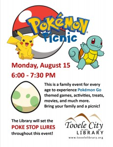 Pokemon Picnic at the Library @ Tooele City Library | Tooele | Utah | United States