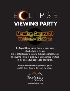 Family Event: Solar Eclipse Party @ Tooele City Library | Tooele | Utah | United States
