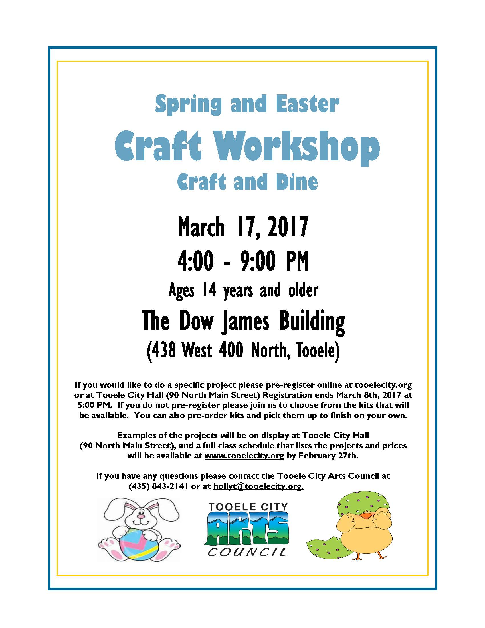 Register Now for the Craft and Dine: Spring & Easter Craft Workshop