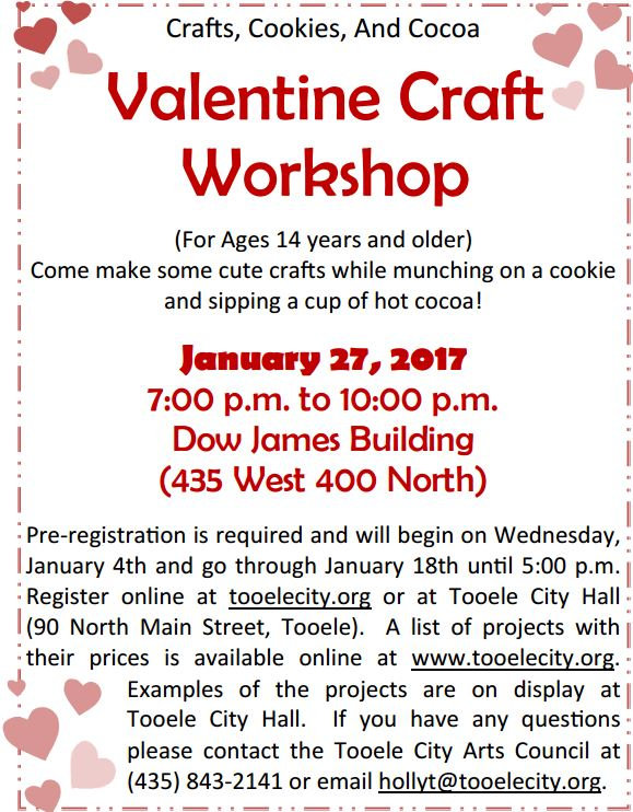 Valentine Craft Workshop 2017