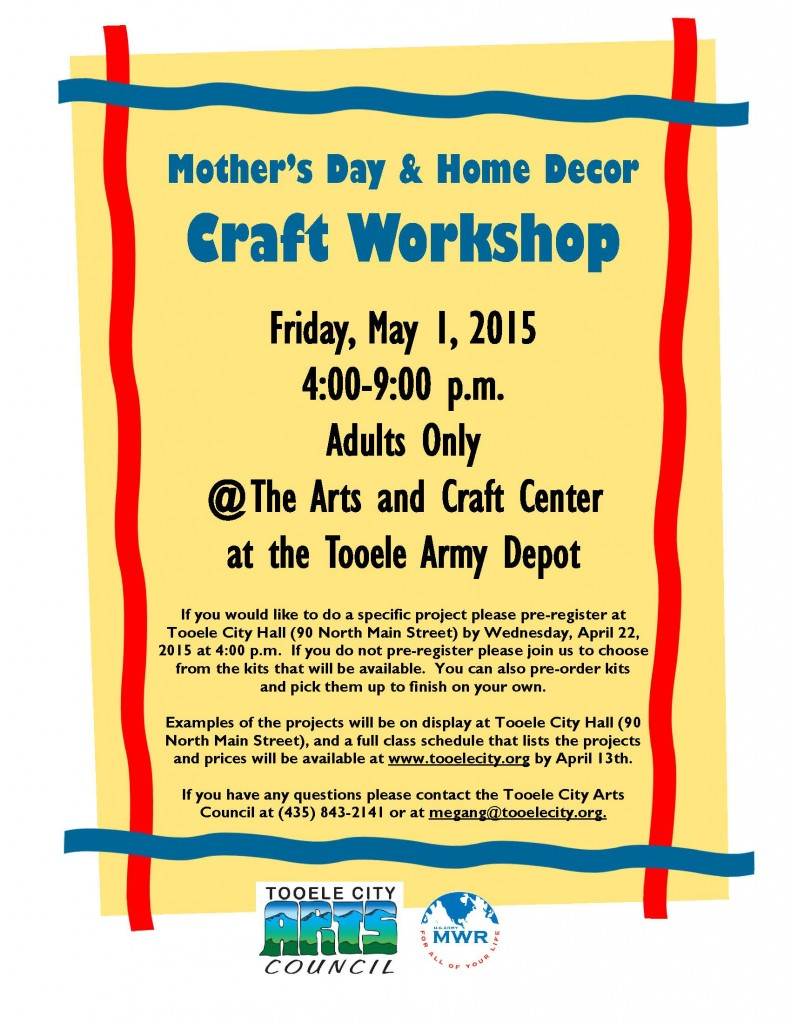Mother's Day and Home Decor Craft Workshop 2015