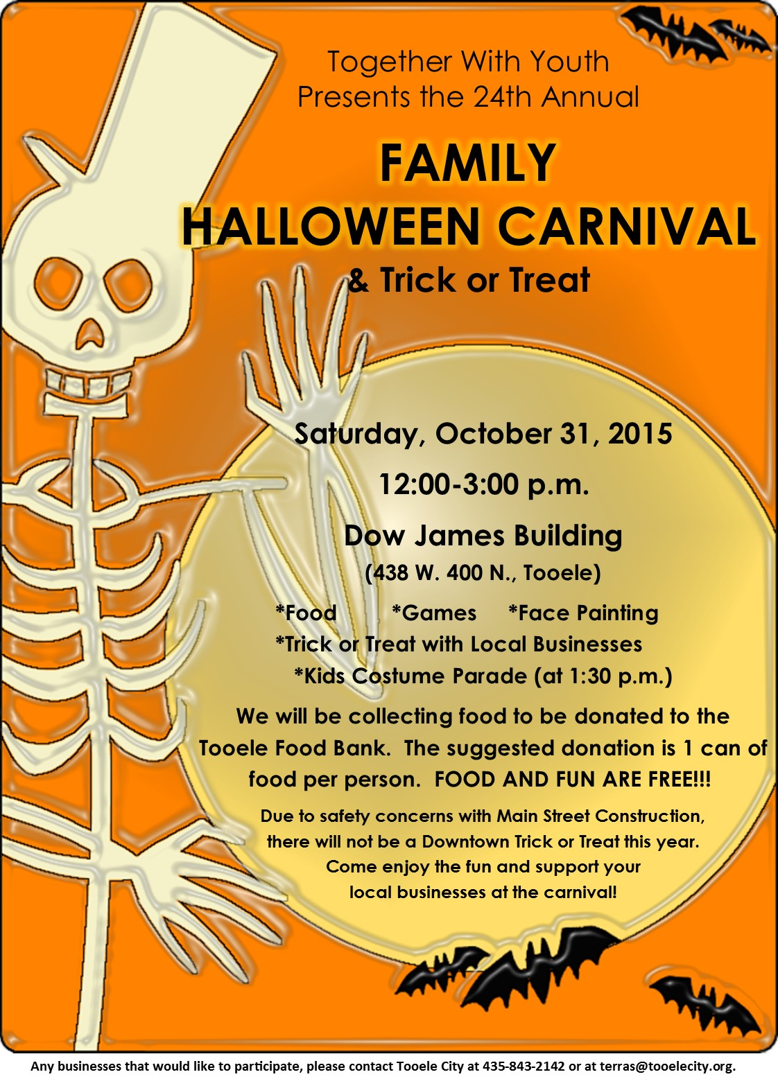 family halloween carnival and trick-or-treat 2015 | tooele city
