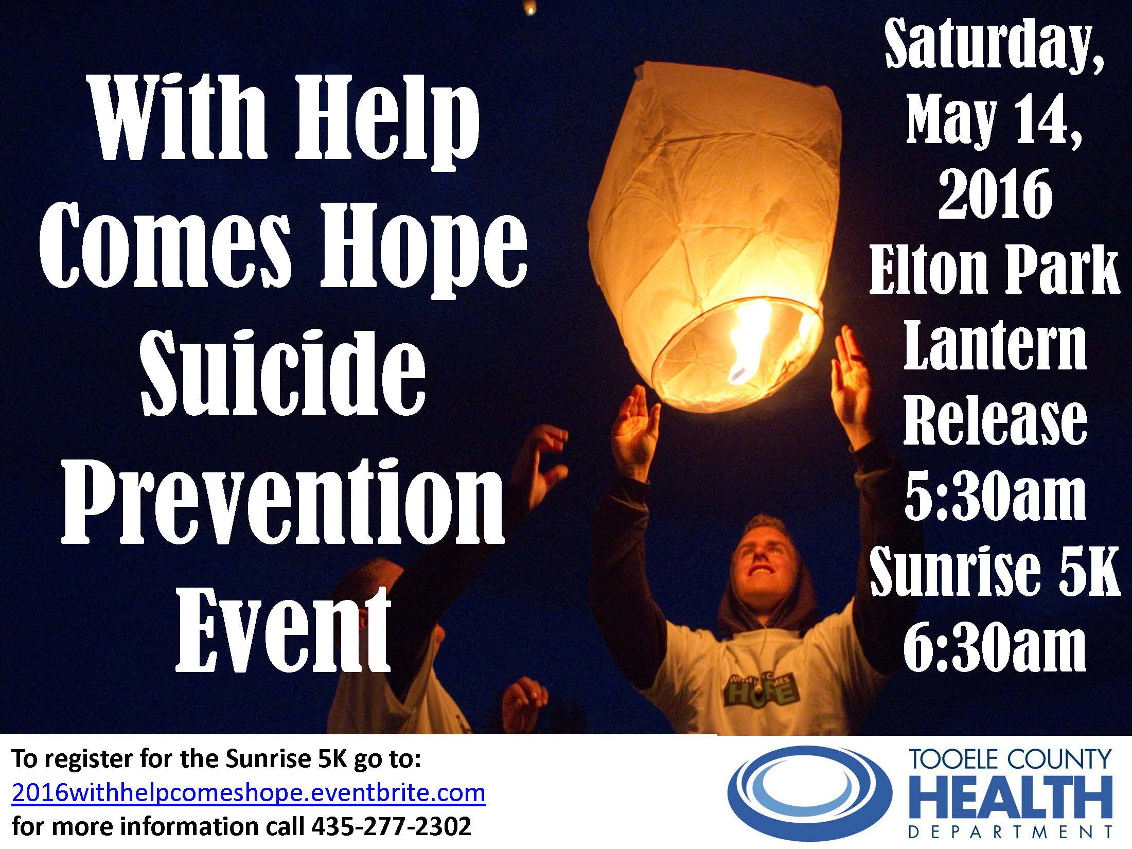With Help Comes Hope - Suicide Prevention Event @ Elton Park | Tooele | Utah | United States