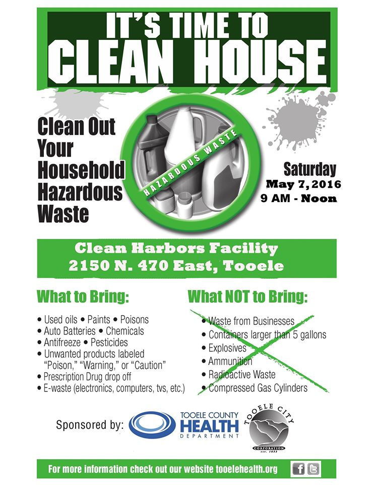 Household Hazardous Waste Collection Day 2016 @ Clean Harbors Facility - 2150 N. 470 E., Tooele | Tooele | Utah | United States