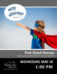 Wacky Wednesday: Pint-Sized Heroes @ Tooele City Library | Tooele | Utah | United States