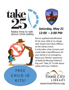 Take 25: Free Child ID Kits!  @ Tooele City Library | Tooele | Utah | United States