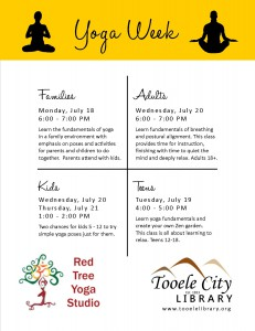 Library: Yoga Week @ Tooele City Library | Tooele | Utah | United States