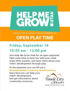 Help Me Grow: Child Development Assessment @ Tooele City Library | Tooele | Utah | United States