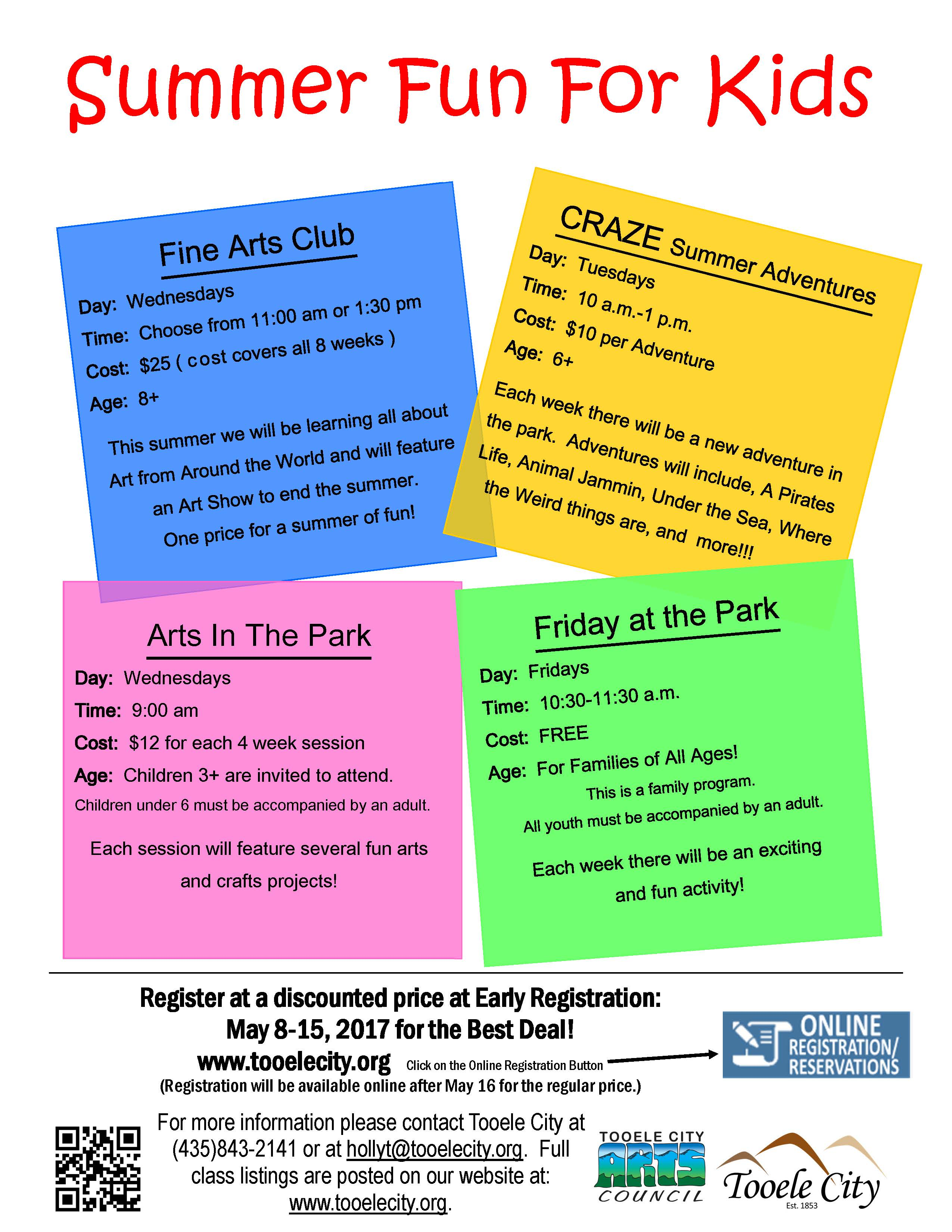 2017 Summer Fun for Kids (Early Registration)