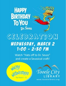 Wacky Wednesday!: Seuss Birthday Party @ Tooele City Library | Tooele | Utah | United States