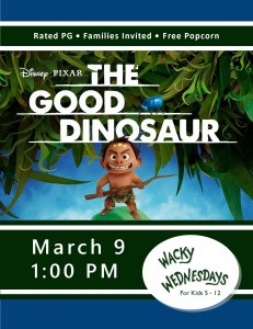 Wacky Wednesday!: The Good Dinosaur (Movie) @ Tooele City Library | Tooele | Utah | United States