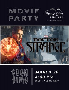 Teen Time: Dr. Strange @ Tooele City Library | Tooele | Utah | United States