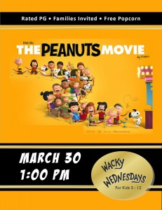 Wacky Wednesday!: The Peanuts Movie @ Tooele City Library | Tooele | Utah | United States