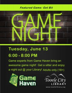 Board Game Madness (Adults 18+) @ Tooele City Library | Tooele | Utah | United States