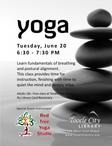 Library: Yoga for Adults @ Tooele City Library | Tooele | Utah | United States