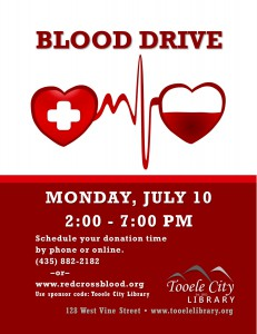 Library: Blood Drive @ Tooele City Library | Tooele | Utah | United States