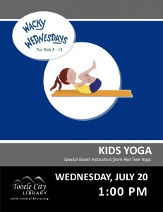 Wacky Wednesday!: Kids Yoga @ Tooele City Library | Tooele | Utah | United States