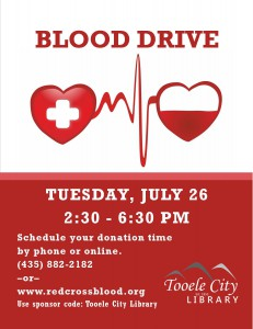 Blood Drive @ Tooele City Library | Tooele | Utah | United States