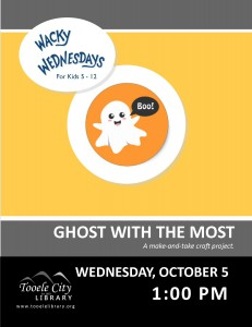 Wacky Wednesday!: Ghost Craft @ Tooele City Library | Tooele | Utah | United States