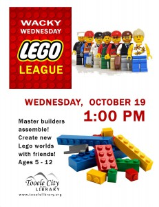 Wacky Wednesday!: Lego League @ Tooele City Library | Tooele | Utah | United States