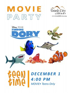 Teen Time: Finding Dory Movie @ Tooele City Library | Tooele | Utah | United States