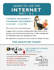 Free Computer Course: Exploring the Internet. Part 1 (Adults) @ Tooele City Library | Tooele | Utah | United States