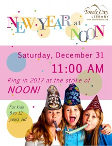 Library: New Year at Noon Party @ Tooele City Library | Tooele | Utah | United States