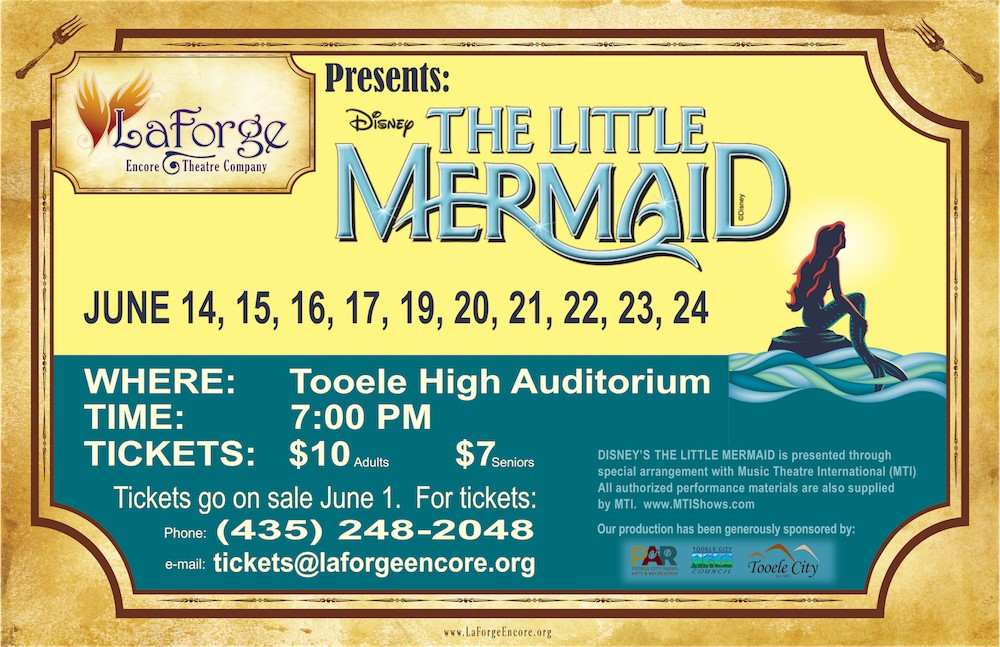 LaForge Encore Theatre presents 'The Little Mermaid' @ Tooele High School Auditorium | Tooele | Utah | United States