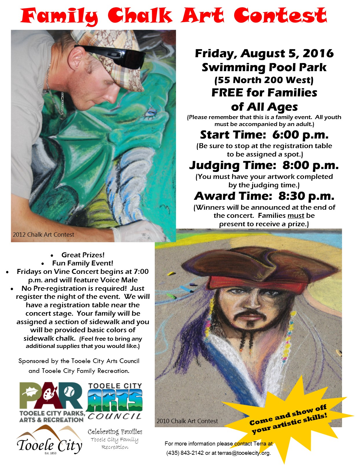 Family Recreation August 2016 Chalk Art Contest