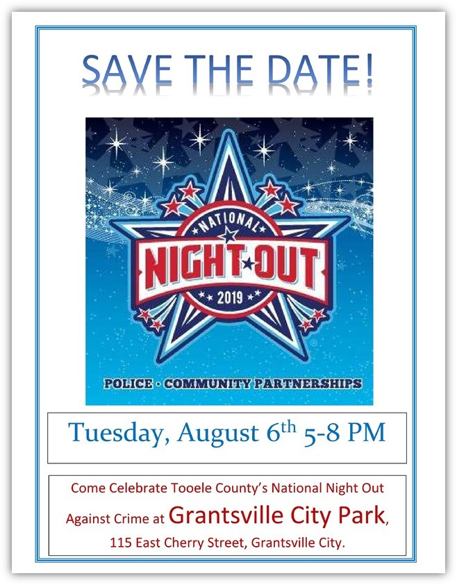 National Night Out Tooele County 2019 @ Grantsville City Park | Tooele | Utah | United States