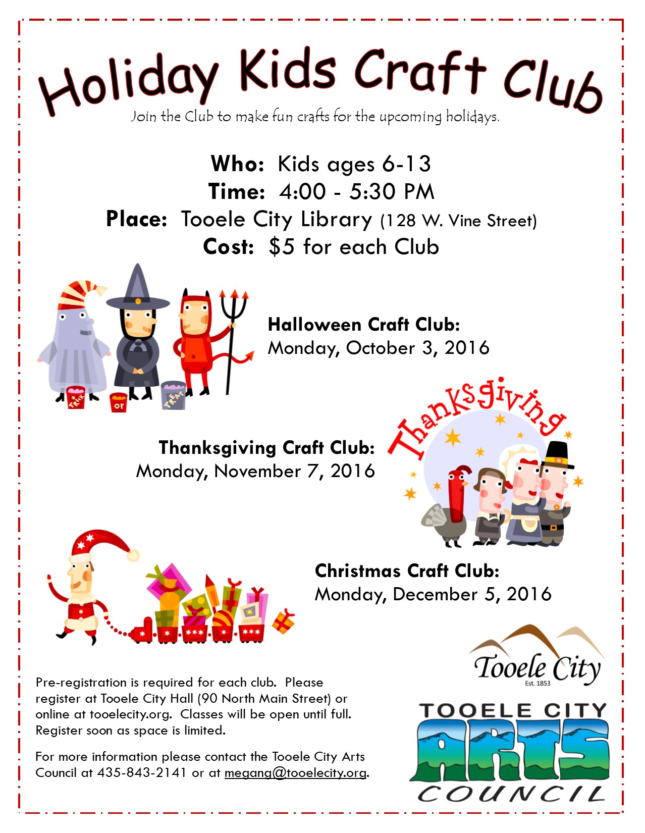 Holiday Kids Craft Club:  Halloween 2016 @ Tooele City Library | Tooele | Utah | United States